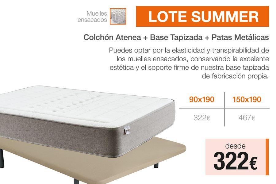 Lote Summer – Colchón + Base + Patas · ¡Ahora Desde 322€!